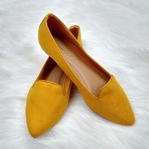 NEW Marigold Point Toe Ballet  Flats
